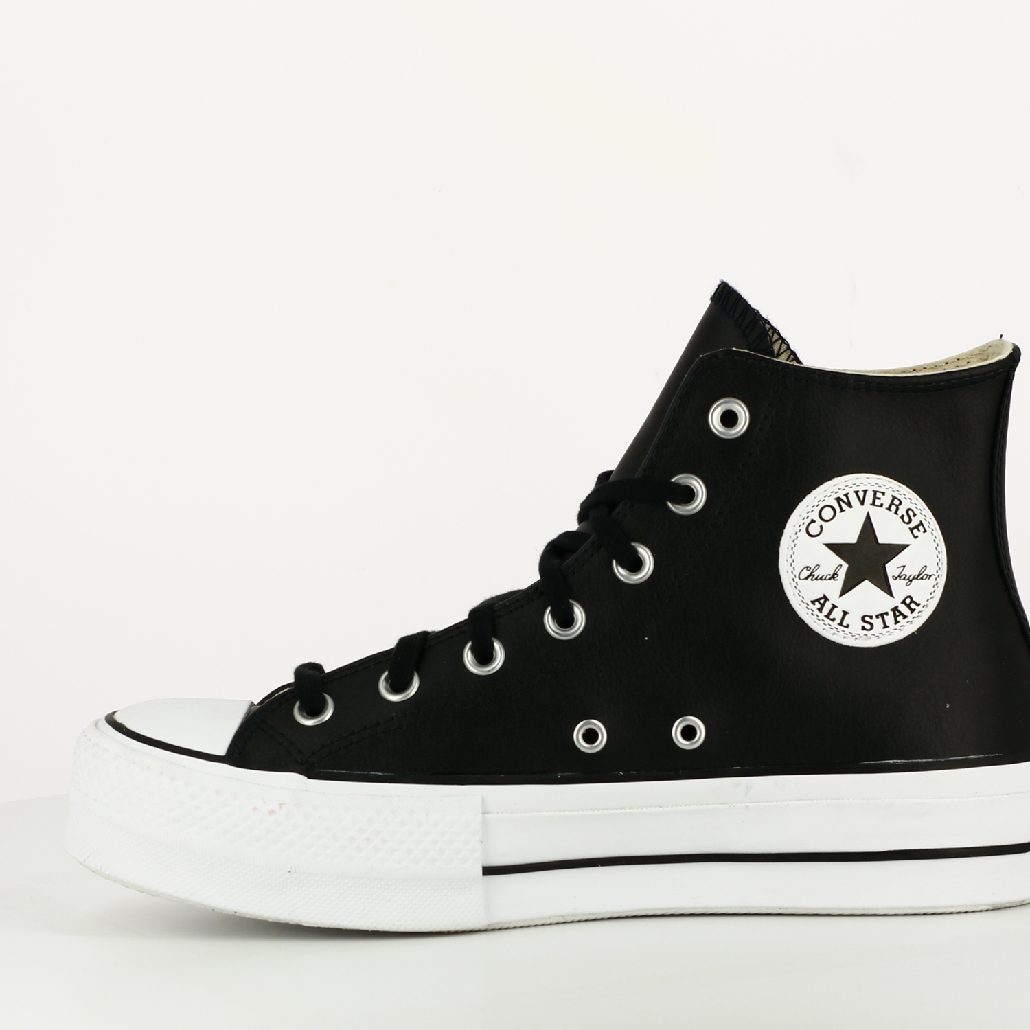 Chuck Taylor All Star Lift Leather High Top Black