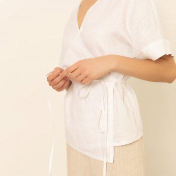 Camisa Cruzada Blanca
