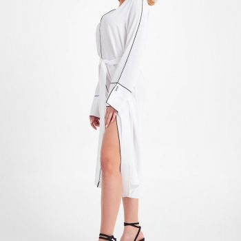 Vestido Ribete Blanco