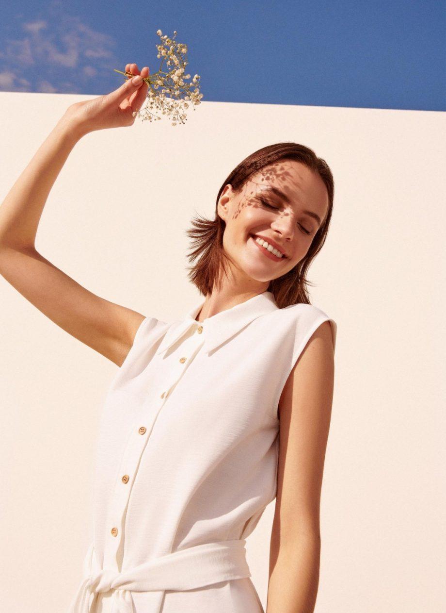 Vestido Lazada Blanco