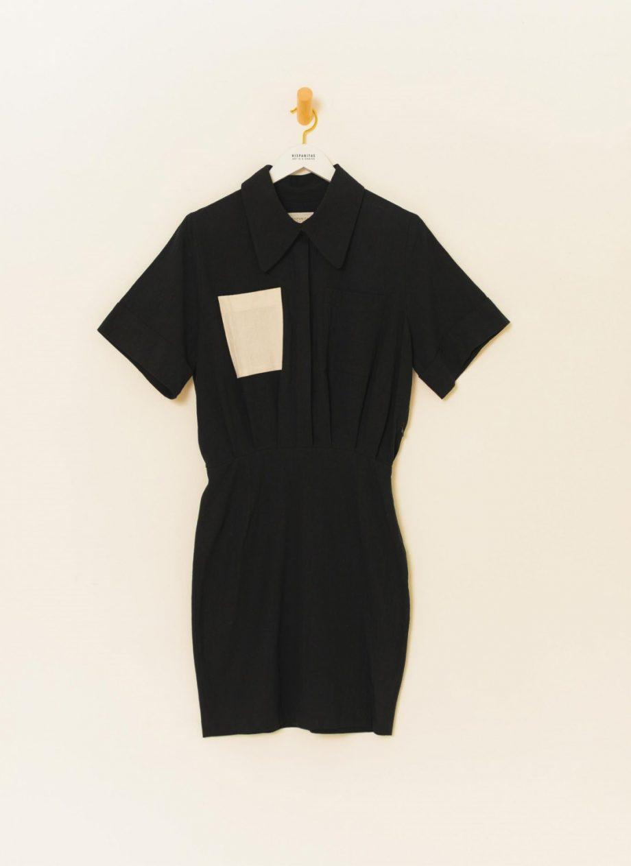 Vestido Bolsillo Negro
