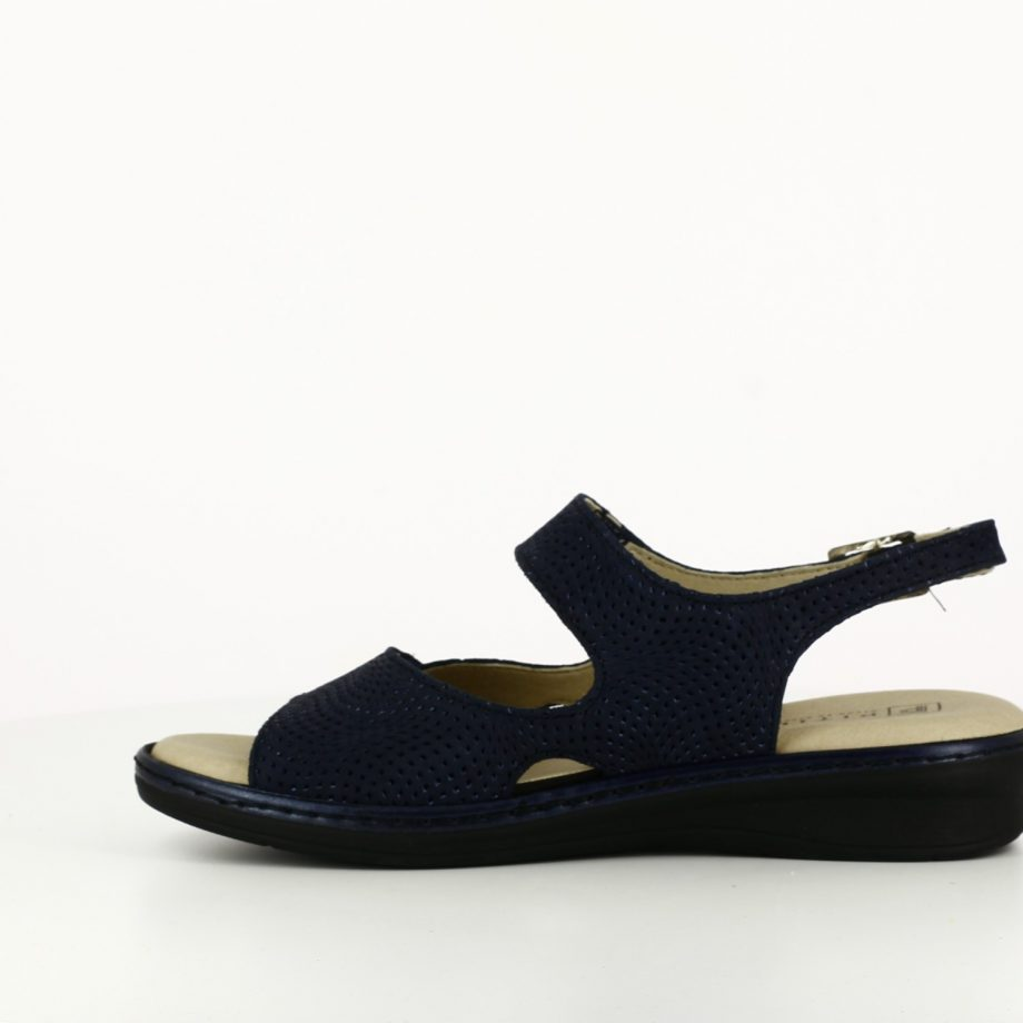 Sandalia Doble Velcro Marino