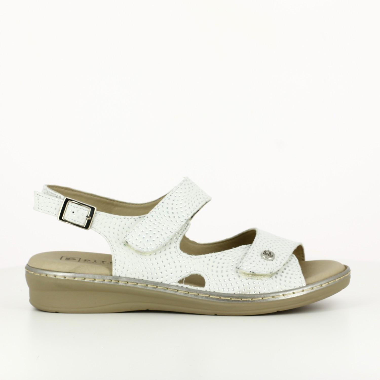 Sandalia Doble Velcro Plata