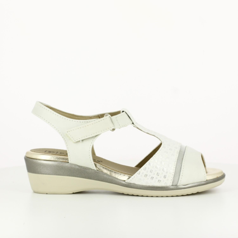 Sandalia Con Velcro Glacial