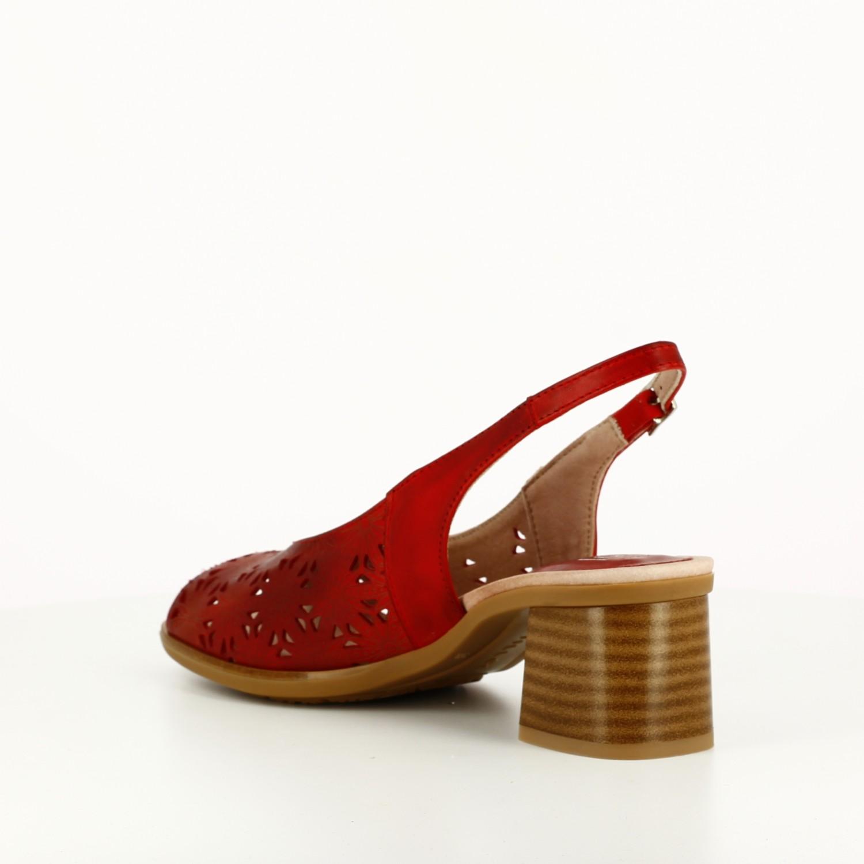 Sandalia Microperforada Roja
