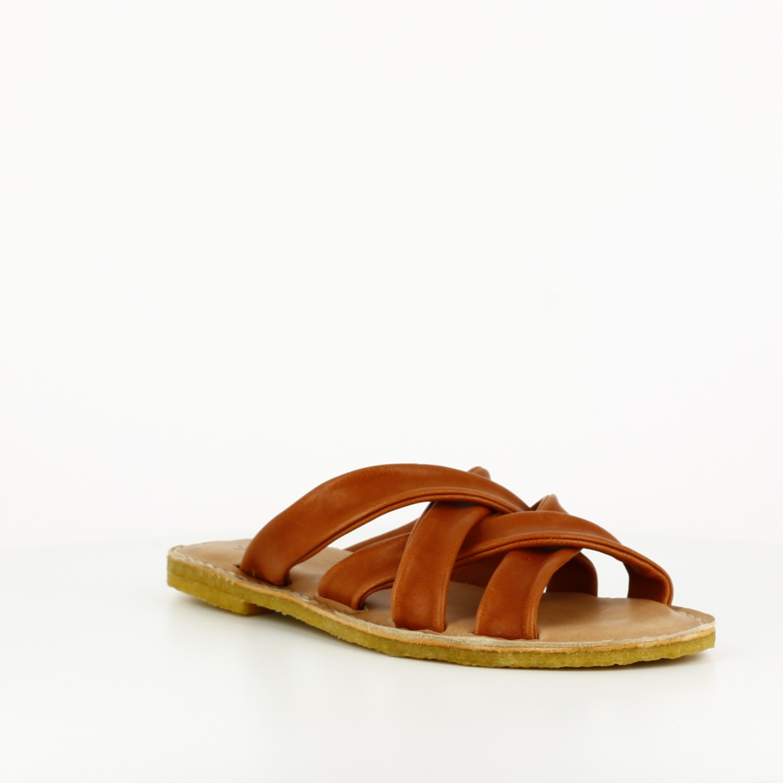 Sandalia Tiras Camel