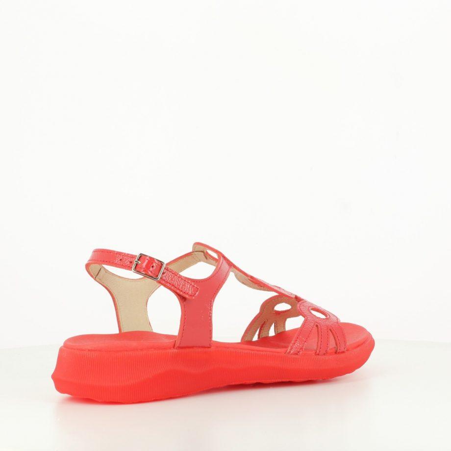 Sandalia Círculos Roja