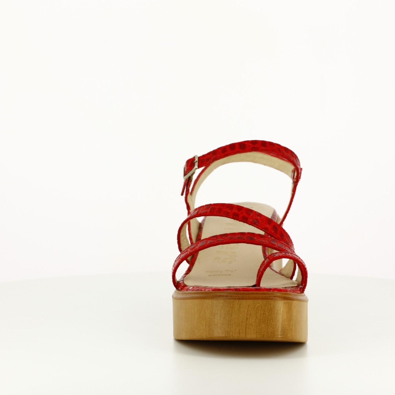 Sandalia Doble Tira Roja