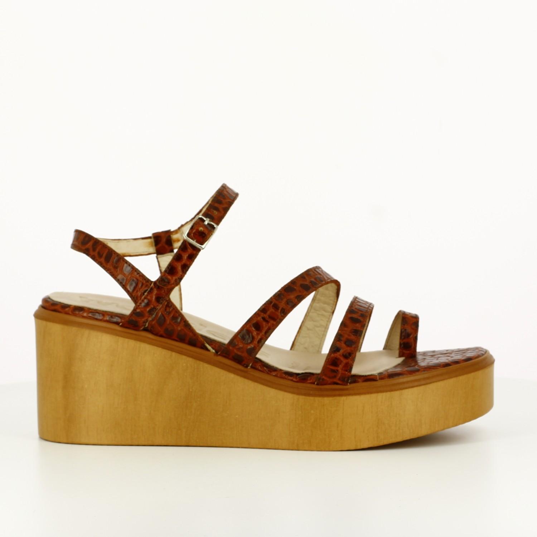 Sandalia Doble Tira Rust